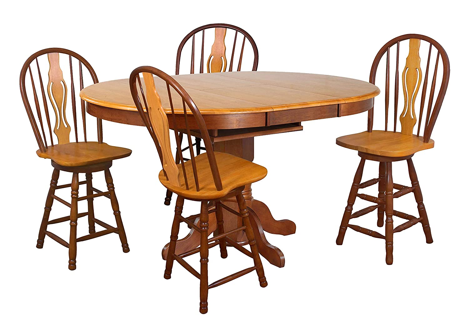 Sunset Trading Oak Selections Dining Walnut Ranking TOP4 Set Sale SALE% OFF Medium Table wi