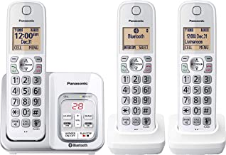 $79 » PANASONIC Expandable Cordless Phone System with Answering Machine, Link2Cell Bluetooth, Talking Caller ID, Call Block and ...