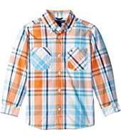 Tommy Hilfiger Kids - Sebastian Plaid Long Sleeve Woven Shirt (Toddler/Little Kids)