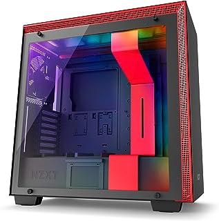 NZXT H700i - Caja PC Gaming de tamaño mediano ATX - Dispositivo inteligente con tecnología CAM - Panel de vidrio templado - Negro/Rojo - Versión 2018