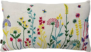 """Mabe Cotton Cushion Cover - 12"""" X 20"""", Ivory"""