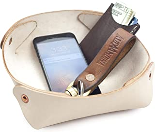 Alta Andina Large Leather Valet Tray/Catchall Full Grain, Vegetable Tanned Leather - Brown Natural