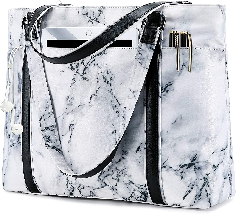 Women Laptop Under blast sales Tote Bag Houston Mall for Shoulder Purse Handbag Work Marble
