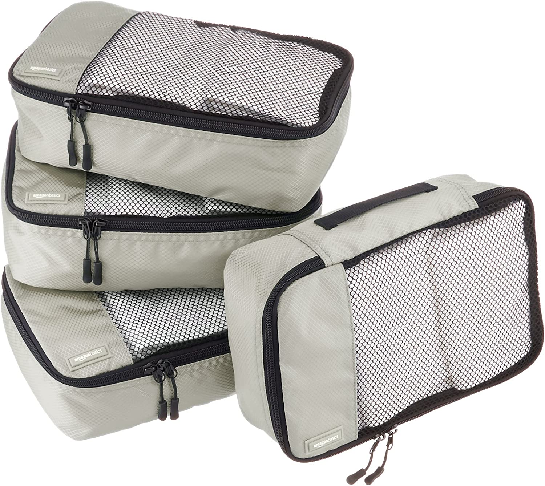 latest Mail order cheap Amazon Basics Small Packing Travel Organizer 4 - Cubes Gray Set