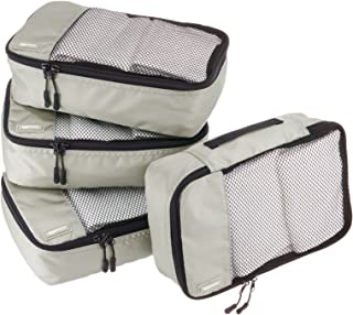 AmazonBasics Small  Packing Cubes - 4 Piece Set, Gray