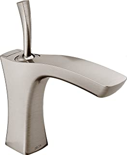 Delta Tesla Single-Handle Bathroom Faucet with Metal Drain Assembly, Stainless 552LF-SSMPU