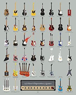 Pop Chart: Poster Prints (16x20) - Guitar Infographic - Printed on Archival Stock - Features Fun Facts About Your Favorite Things
