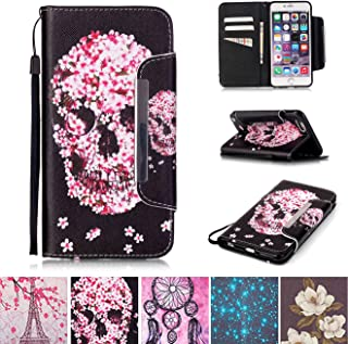 iPhone 6 Plus / 6S Plus Case, Kickstand Flip [Card Slots] Wallet Cover Double Layer Bumper Shell with Magnetic Closure Strap Protective Case for Apple iPhone 6 Plus / 6S Plus 5.5