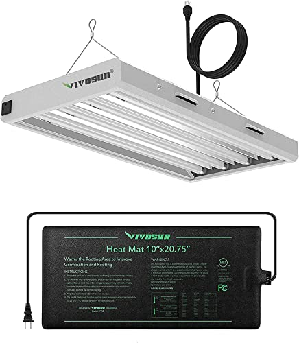 wholesale VIVOSUN Durable Waterproof Seedling Heat Mat with 6500K 2FT high quality T5 outlet sale HO Fluorescent Grow Light Fixture, for Indoor Plants, with 4 Bulbs outlet sale