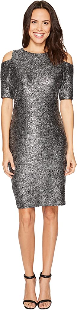 MICHAEL Michael Kors - Foil Cold Shoulder Dress