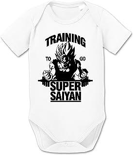 Sambosa Goku SS Dragon Son Baby Ball Strampler Bio Baumwolle Body Jungen & Mädchen 0-12 Monate