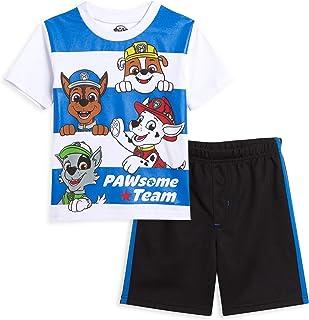 Sponsored Ad - Nickelodeon Paw Patrol Chase Marshal Rubble Graphic T-Shirt & Mesh Shorts Set
