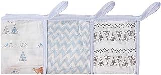 Paninho De Boca Soft Premium Papi Baby Com Prendedor De Chupeta 32Cm X 32Cm 03 Un, Papi Textil, Azul