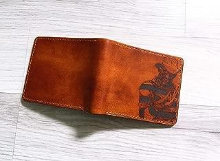 Unik4art - Personalized Freddy Krueger Halloween leather handmade men wallet engrave gift