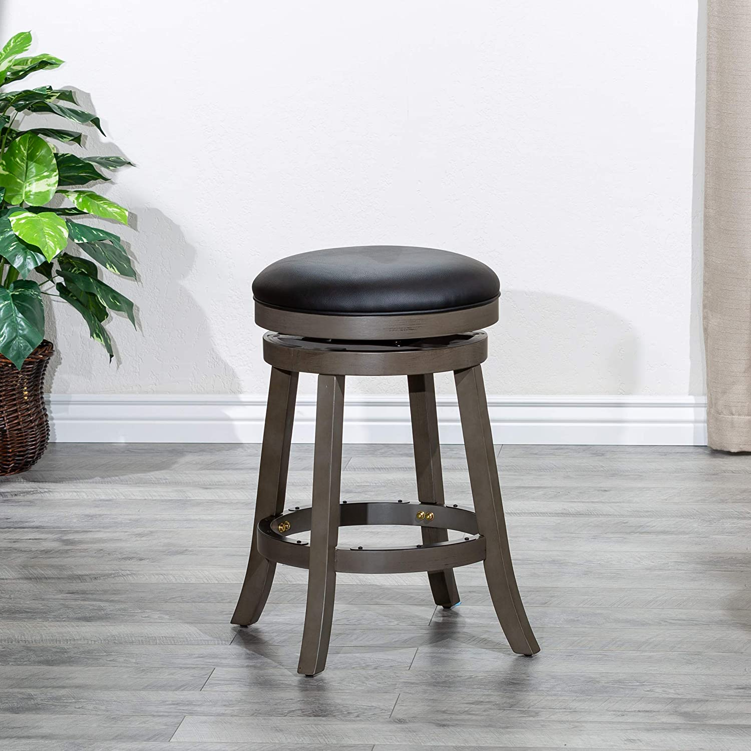 DTY Max 49% OFF Indoor Living Creede Backless Ranking TOP5 Weathered F Swivel Stool Gray