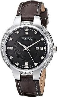 ساعة Pulsar النسائية PJ2015 التناظرية عرض كوارتز اليابانية رمادية