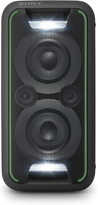 Sony gtk-xb5 sistema audio con extra bass, effetti luminosi, bluetooth, nfc, alimentazione ac, nero GTKXB5B.CEL