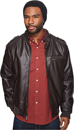 Faux Leather Iconic Racer Jacket