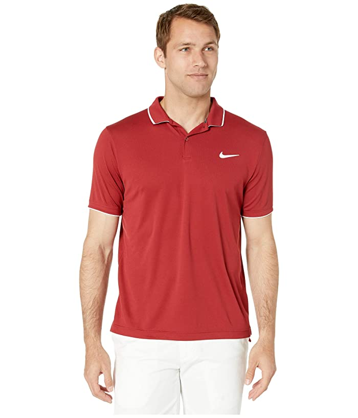 Nike NikeCourt Dry Polo Team (Team Crimson/White/Team Crimson) Men