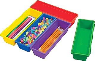 "Storex Pencil Tray 9.25""X3""X1.9"" 5/pkg-Assorted Colors"
