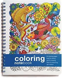 Coloring NoteBook (11 x 8.5 inches) Side-bound Notebook - Note taking with a Coloring Book Twist