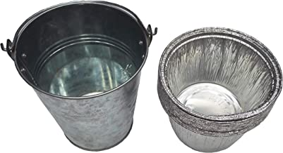 soldbbq Grease Bucket with 10 Liners Replace Part for Select Models 20/22/34 Series, Traeger Grills Wood Pellet BBQ