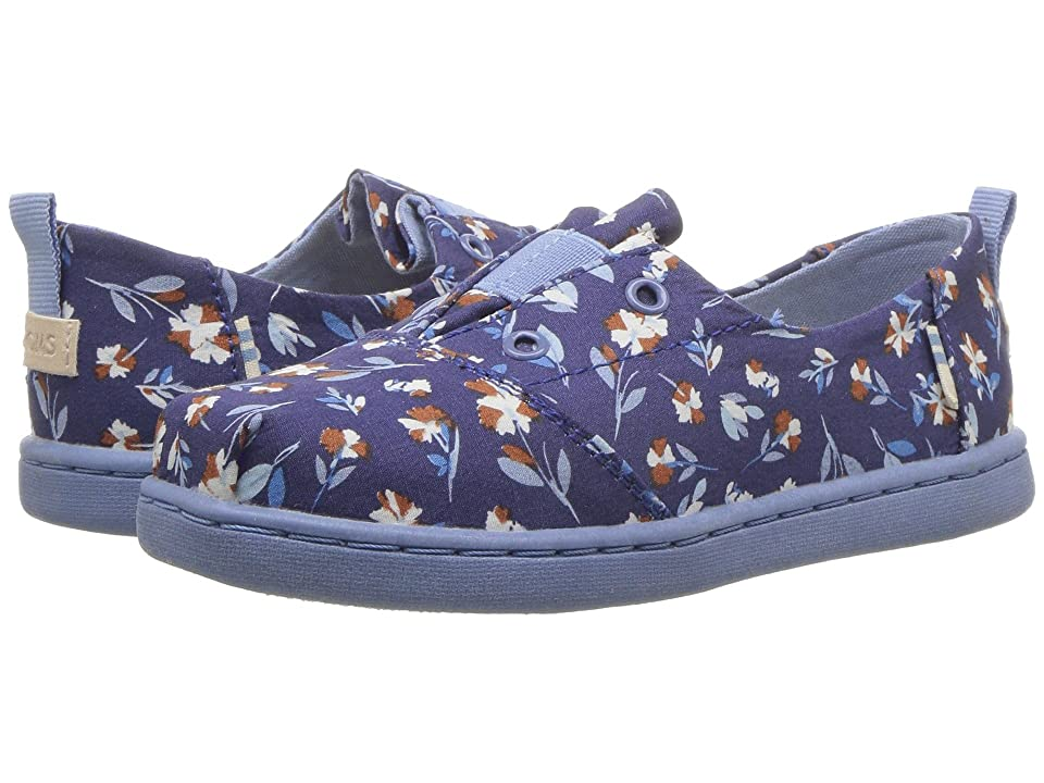 TOMS Kids Lumin (Infant/Toddler/Little Kid) (Deep Cobalt Vintage Floral) Girl