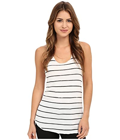 Alternative Printed Meegs Racer Tank (Eco Ivory Ink Stripe) Women