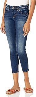 Silver Jeans Women's Suki Curvy Fit Denim Capri