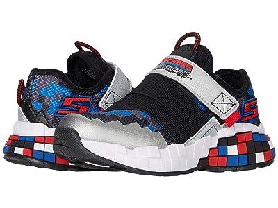 SKECHERS KIDS Sport Mega-Craft Cubotex (Little Kid/Big Kid) (Black/Silver) Boys Shoes
