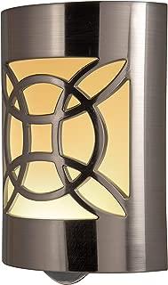 GE CoverLite LED Night Light Design, Plug-in, Dusk to Dawn Sensor, Home Décor, for Elderly, Ideal for Bedroom, Bathroom, Nursery, Kitchen, Hallway, 11358, 1 Pack, Brushed Nickel | Celtic