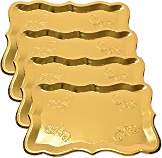 10 Gold Rectangle Trays for Dessert Table Serving Parties 9