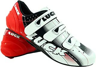 LUCK Zapatillas de Ciclismo EVO Rojo, para Carretera, con