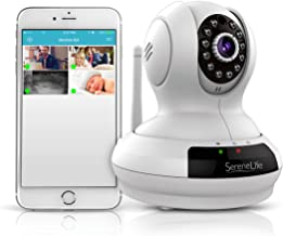 SereneLife Indoor Wireless IP Camera - HD 720p WiFi Network Security Surveillance Home Monitoring w/Motion Detection, Night Vision, PTZ, 2 Way Audio, iPhone Android Mobile PC