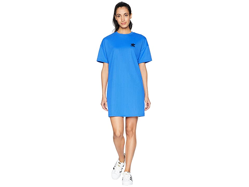 adidas Originals Fashion League Rib Tee Dress (Hi-Res Blue) Women