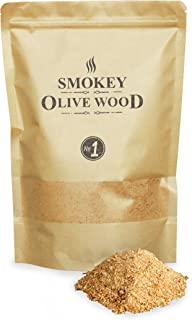 Smokey Olive Wood 1'5 litros, serrín de Madera para ahumar, 50% Olivo y 50%