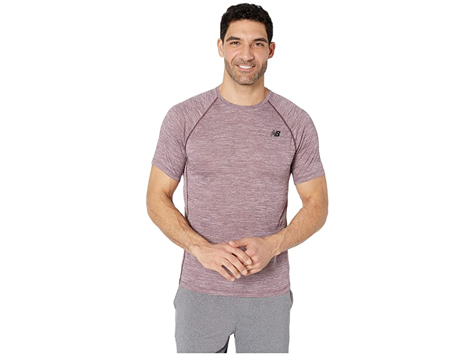 New Balance Tenacity Short Sleeve Tee (Burgundy) Men