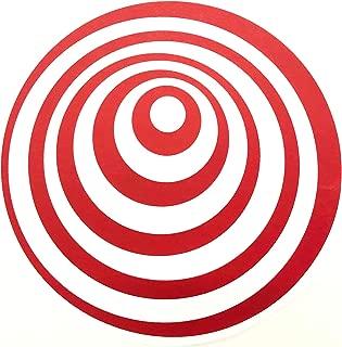 Thud Rumble ButterRug Slipmats Red Twilight Zone Swirl Design Butter Rug Pair