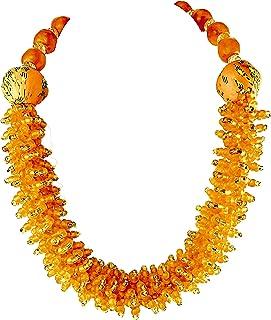 Sophia Dor 1H Orange Glass Bead Necklace Bracelet and Earring Set