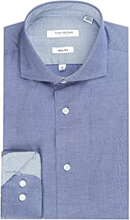 Men's End On End Slim Fit Long Sleeve Dress Shirt - Colors