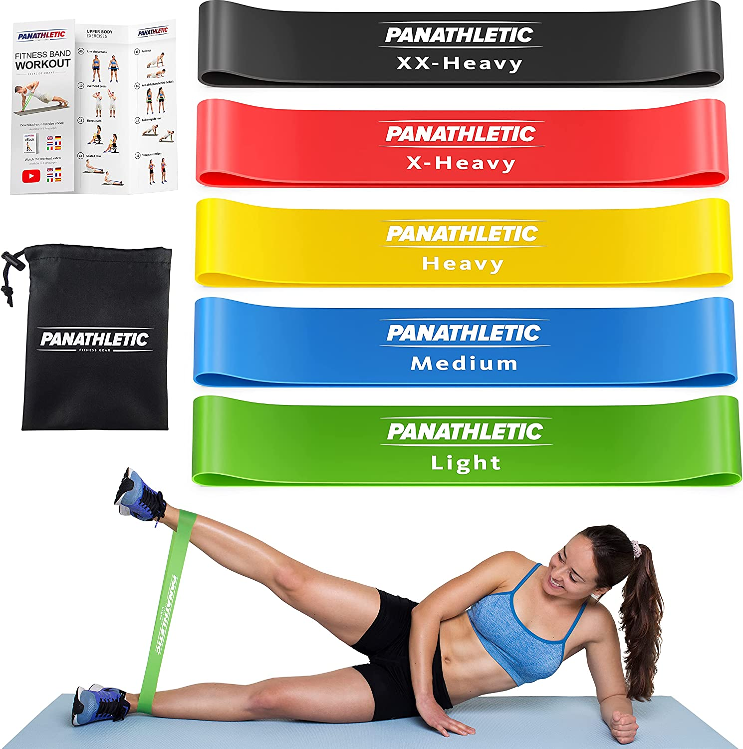 Panathletic Resistance Bands Set of 5 Max 57% OFF – OFFer Different