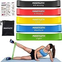 Panathletic Träningsband, Set med 5 Band - 5 Motståndsnivåer, Träningsguide, E-Bok, Förvaringsfodral – 5 st. elastiska...