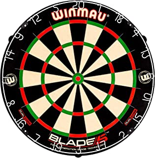 Blade 5 Dual Core Bristle Dartboard with Increased Scoring Area and Improved Dart Deflection for Reduced Bounce-Outs