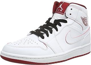 quality design 5c7cd 2ab87 Amazon.com: Nike Men's Air Jordan 1 Mid Black/Black/White/Gym Red ...