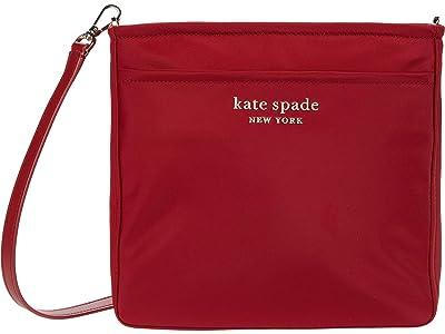 Kate Spade New York New Nylon Medium Swing Pack (Red Currant) Handbags