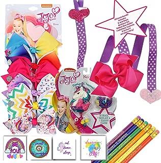 MYLIFE JoJo Siwa Stocking Stuffers, Birthday Gift Sets for Girls, Ideas for Little Girls, JoJo Siwa Accessories, JoJo Bows, JoJo Siwa Hair Accessories,Fun Presents for Birthday Girl, Christmas