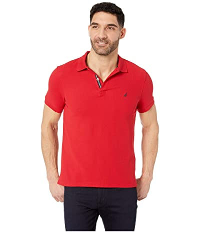 Nautica Short Sleeve Slim Polo (Nautica Red) Men