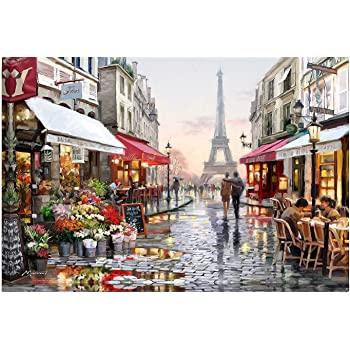 A Hapae Paint by Number Kit DIY Oil Painting Drawing Canvas with Brushes Christmas Decor Decorations Gifts Retro Oil Painting for Kids Adult Beginner