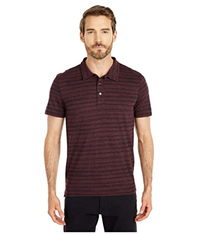 Threads 4 Thought James Dirt Road Stripe Polo (Maroon Rust) Men