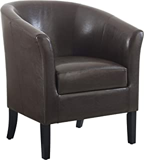 "Linon Home Dcor Linon Home Decor Simon Club Chair, 33"" x 28.25"" x 25.5"", Brown"
